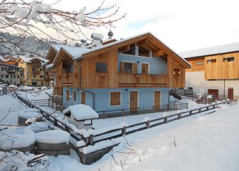 Wohnung - Soraga - Außenansicht Winter - Photo ID 1173