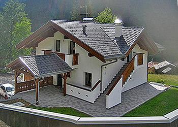 Wohnung - Soraga - Außenansicht Sommer - Photo ID 1187