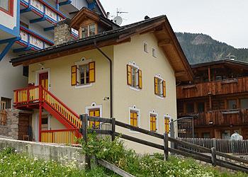 Wohnung - San Giovanni di Fassa - Vigo - Außenansicht Sommer - Photo ID 1463