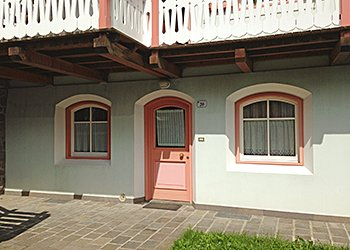 Apartment in Campitello di Fassa. Detail of the entrance to your apartment