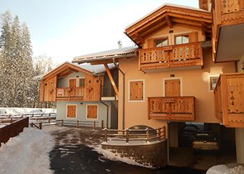 Wohnung - Soraga - Außenansicht Winter - Photo ID 1800