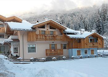 Wohnung - Soraga - Außenansicht Winter - Photo ID 1801