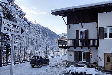 Bytě - San Giovanni di Fassa - Vigo  - Zvenčí - v zimě - Photo ID 2502