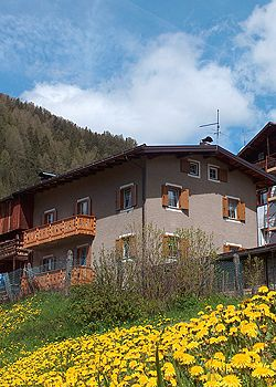 Apartment in Campitello di Fassa. We are located within walking distance of the buzzy centre of the village(100 m - just over 100 yds). Two of our three double bedrooms are South-facing (as is the kitchen). The flat sleeps eight people comfortably and an extra single bed can be added in one of the bedrooms (for a total of nine people).