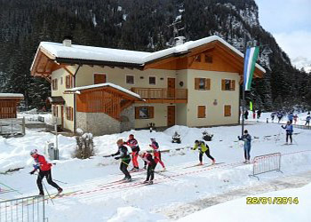 Apartment in Canazei. NEW BUILDING SOUTH-WEST FACE--  The international F.I.S. popular cross-country ski race MARCIALONGA DI FIEMME E FASSA