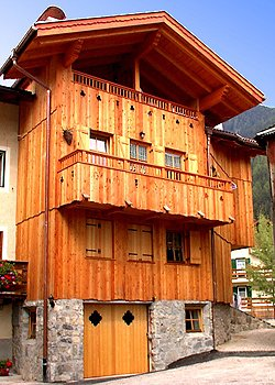 Apartment in San Giovanni di Fassa - Pozza. TOBIA' DE BARAT is the perfect home to live a holiday in relax with a family ospitality. If you love rustic and refined things together with all kinds of comfort, Tobià de Barat is for you! . The house is in the centre of Pozza di Fassa very close to all turistic services.  It is furnished in typic ladin style, with the use of the garage, laundry room, skiboots-warmer for winter and the use of mountain bike for summer holidays  IN WINTER you can reach in 5 minutes by foot Ski Area Buffaure, Alloch pist skiing, even illuminated for your exting downhill by night and langlauf circuite. Your childs can have good fun in the snowy fields just round the corner Tobià de Barat, playing in the snow park with other kids, or skiing in all safety at baby skilift Fraine. Moroveor if you want to discover the other villages and ski area of Valle di Fassa you have the skibus stop near the house. IN SUMMER the snowy fields turn into panoramic walks and cycling tour which connect Pozza with Moena and Canazei, the opposite and most famous villages of Valle di Fassa . In the green fields don't miss any kind of playgronds and a animation team for your childs but our jewel is Val San Nicolò which developes in the end of Pozza, a place with the most spectacular nature and landscape in the world where you can discover and visit the traditional mountain pasture, the old typical mountain buidings and if you are lucky you can see our wood animals.