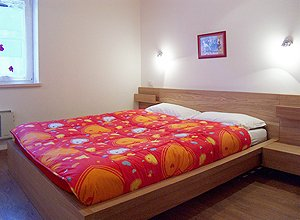Apartment in Penia di Canazei. The other sleeping room are confortable and quiet with double bed.
