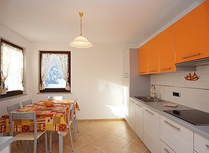 Apartment in Soraga. The restaurant kitchen of the